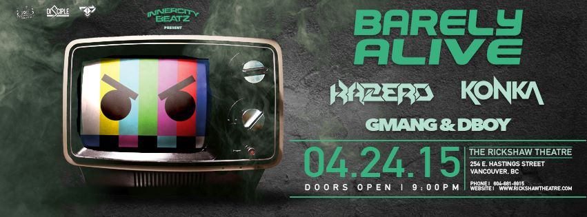 Barely Alive Presented by Innercity Beatz w/ 50,000 Watts of Sound!