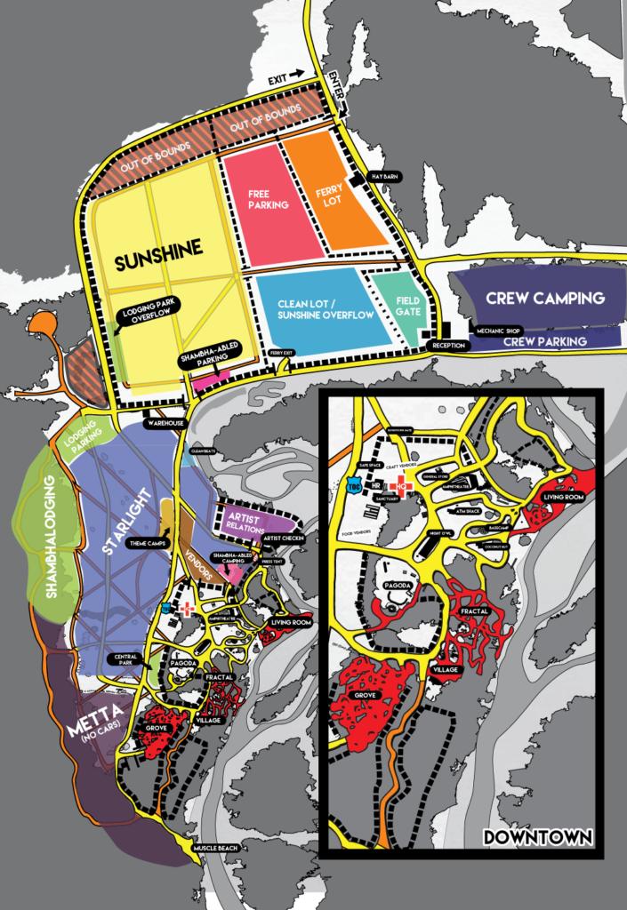 Shambhala 2016 Map