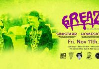 Greazus w/ Sinistarr & Guests – Nov 11th – Red Deer